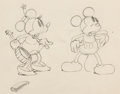 Animation Art:Production Drawing, Camping Out Mickey Mouse and Minnie Mouse Animation Drawing(Walt Disney, 1934). ...