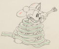Animation Art:Production Drawing, Mickey's Fire Brigade Mickey Mouse Animation Drawing (Walt Disney, 1935). ...