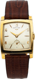 Timepieces:Wristwatch, Hamilton, Sutton, 14K Yellow Gold, Manual Wind, Circa 1957...