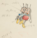 Animation Art:Color Model, Woodland Café Grasshopper Color Model Animation Drawing(Walt Disney, 1937)....
