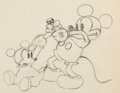 Animation Art:Production Drawing, Mickey's Nightmare Mickey Mouse and Baby Mouse Animation Drawing (Walt Disney, 1932)....