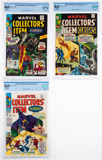 Marvel Collectors' Item Classics #12, 15, and 17 Group (Marvel, 1967-68) CBCS VF 8.0.... (Total: 3 Comic Books)