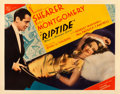 """Movie Posters:Drama, Riptide (MGM, 1934). Fine on Paper. Half Sheet (22"""" X 28"""") StyleA.. ..."""
