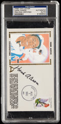 Autographs:Letters, 1982 Hank Aaron Signed First Day Cover, PSA/DNA Authentic....