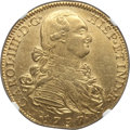 Colombia, Colombia: Charles IV gold 8 Escudos 1797 NR-JJ AU58 NGC,...