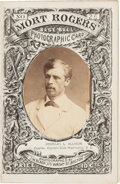 Baseball Cards:Singles (Pre-1930), 1871 Mort Rogers Photographic Score Card Douglas Allison - The Only Known Example! ...