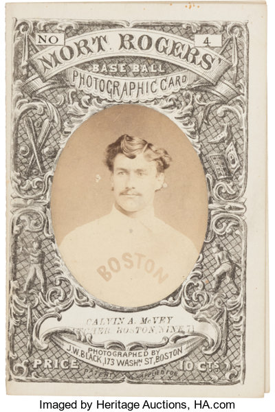 1871 Mort Rogers Photographic Score Card Calvin Mcvey Member Of