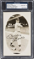 Autographs:Post Cards, 1950's Mickey Mantle Signed Postcard, PSA/DNA Gem Mint 10. ...