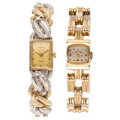 Estate Jewelry:Watches, Lady's Diamond, Gold Watches. ... (Total: 2 Items)