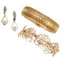 Estate Jewelry:Lots, Diamond, Gold Jewelry . ... (Total: 3 Items)
