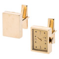 Estate Jewelry:Cufflinks, Gold Watch Cuff Links. ...