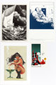 Bernie Wrightson, Jim Silke and Others - Prints Group of 4 (1978-1996).... (Total: 4 Items)