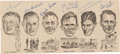 Autographs:Others, 1965 Curly Lambeau, Johnny Blood McNally, Don Hutson, & Others Multi-Signed Newspaper Clipping....