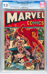 Marvel Mystery Comics #51 (Timely, 1944) CGC VF/NM 9.0 Cream to off-white pages