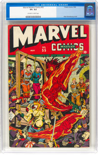 Marvel Mystery Comics #55 (Timely, 1944) CGC VF+ 8.5 Off-white to white pages