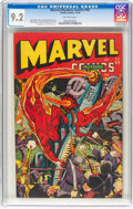 Golden Age (1938-1955):Superhero, Marvel Mystery Comics #60 (Timely, 1944) CGC NM- 9.2 Off-white pages....