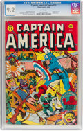 Golden Age (1938-1955):Superhero, Captain America Comics #31 (Timely, 1943) CGC NM- 9.2 White pages....