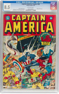 Golden Age (1938-1955):Superhero, Captain America Comics #26 (Timely, 1943) CGC VF+ 8.5 Off-whitepages....