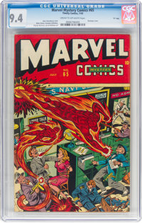 "Marvel Mystery Comics #65 Davis Crippen ""D"" Copy Pedigree (Timely, 1945) CGC NM 9.4 Cream to off-white pages..."