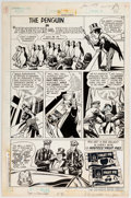 "Original Comic Art:Complete Story, Curt Swan and Tex Blaisdell Hostess Fruit Pie Ad Complete 1-Page Story ""Penguins On Parade!"" Original Art (DC, 197..."