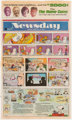 Charles Schulz Peanuts Farewell Strip and Other Comics Tearsheet dated 2-13-00 (Newsday, 2000)