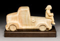 Bronze:American, Doug Hyde (American, b. 1946). 4 Sale. Alabaster. 6-1/2inches (16.5 cm) high on a 1-1/2 inches (3.8...