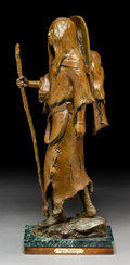 Bronze:American, Richard Vernon Greeves (American, b. 1935). Bird Woman,2001. Bronze with brown patina. 22-1/2 inche...