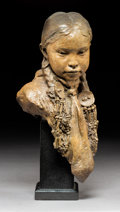 Sculpture, John Coleman (American, b. 1949). Summer Blossom Joe, 2002. Bronze with brown patina. 12-1/2 inches (31.8 cm) high on a ...