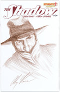 Original Comic Art:Illustrations, Alex Ross The Shadow #1 Signed Limited Edition Hand-DrawnSketch Cover #154/200 (Dynamite Entertainment, 2012) Con...