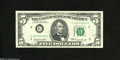 Error Notes:Blank Reverse (<100%), Fr. 1969-C $5 1969 Federal Reserve Note. Extremely Fine-AboutUncirculated....