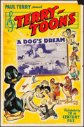 """Movie Posters:Animation, Terry-Toons: A Dog's Dream (20th Century Fox, 1940) Folded, Fine/Very Fine. One Sheet (27"""" X 41""""). Animation...."""