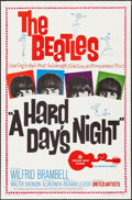 "Movie Posters:Rock and Roll, A Hard Day's Night (United Artists, 1964). Folded, Fine/Very Fine.One Sheet (27"" X 41""). Rock and Roll...."