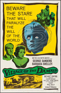 """Village of the Damned (MGM, 1960) Folded, Fine/Very Fine. One Sheet (27"""" X 41""""). Science Fiction"""