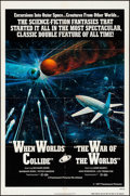 """Movie Posters:Science Fiction, When Worlds Collide/The War of the Worlds Combo (Paramount, R-1977) Folded, Very Fine-. One Sheet (27"""" X 41""""). Science Ficti..."""