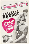"""Movie Posters:Foreign, Crazy for Love (Ellis Films, 1960) Folded, Very Fine-. One Sheet (27"""" X 41""""). Foreign...."""