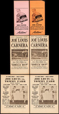 """Movie Posters:Sports, Joe Louis vs. Tommy Farr & Others Lot (1935-1937) Very Fine-. Heralds (11) (4.75"""" X 10.75"""" - 9"""" X 12""""). Sports.... (Total: 11 Items)"""