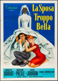 "Movie Posters:Foreign, The Bride is Much Too Beautiful (Titanus, 1958) Folded, Very Fine-. Italian 2 - Fogli (39.25"" X 55.25""). Foreign...."