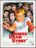 "Movie Posters:Documentary, The James Dean Story (Rene Chateau, R-1980) Folded, Very Fine+. French Petite (15.75"" X 21.25"") Jean Mascii Artwork. Documen..."