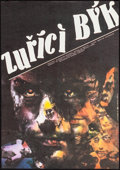 "Movie Posters:Drama, Raging Bull (United Artists, 1987). Very Fine+. Czech Poster (11.5"" X 16.5""). Zdenek Ziegler Artwork. Drama.. ..."