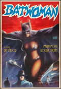 "Movie Posters:Action, Batwoman (Akin Film, R-1980s) Folded, Fine/Very Fine. Turkish One Sheet (26.75"" X 39.25"") Huseyin Artwork. Action...."