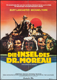 The Island of Dr. Moreau & Others Lot (American International, 1977) Folded, Overall Grade: Fine/Very Fine. German A...