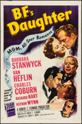 """Movie Posters:Drama, B.F.'s Daughter (MGM, 1948) Folded, Fine/Very Fine. One Sheet (27"""" X 41""""). Drama...."""