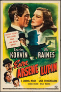 "Movie Posters:Crime, Enter Arsene Lupin (Universal, 1944) Folded, Very Fine-. One Sheet (27"" X 41""). Crime...."