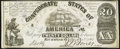 Confederate Notes:1861 Issues, CT18 $20 1861 Counterfeit Very Fine-Extremely Fine.. ...