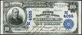 National Bank Notes:Wisconsin, Shullsburg, WI - $10 1902 Plain Back Fr. 626 The First NB Ch. # (M)4055 Very Fine.. ...