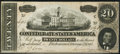 Confederate Notes:1864 Issues, T67 $20 1864 PF-13 Cr. 513 Extremely Fine-About Uncirculated.. ...