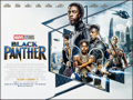 """Movie Posters:Action, Black Panther (Walt Disney Studios, 2018) Rolled, Very Fine-. British Quad (30"""" X 40"""") DS Advance. Action.. ..."""