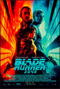 """Blade Runner 2049 (Warner Brothers, 2017) Rolled, Very Fine/Near Mint. One Sheet (27"""" X 40"""") DS Advance. Scien..."""
