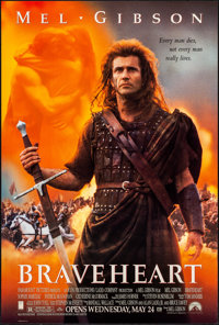 "Braveheart (Paramount, 1995) Rolled, Very Fine+. One Sheet (27"" X 40"") SS Advance. Action"