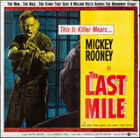 """The Last Mile (United Artists, 1959) Folded, Very Fine-. Six Sheet (79.5"""" X 78.5""""). Thriller"""